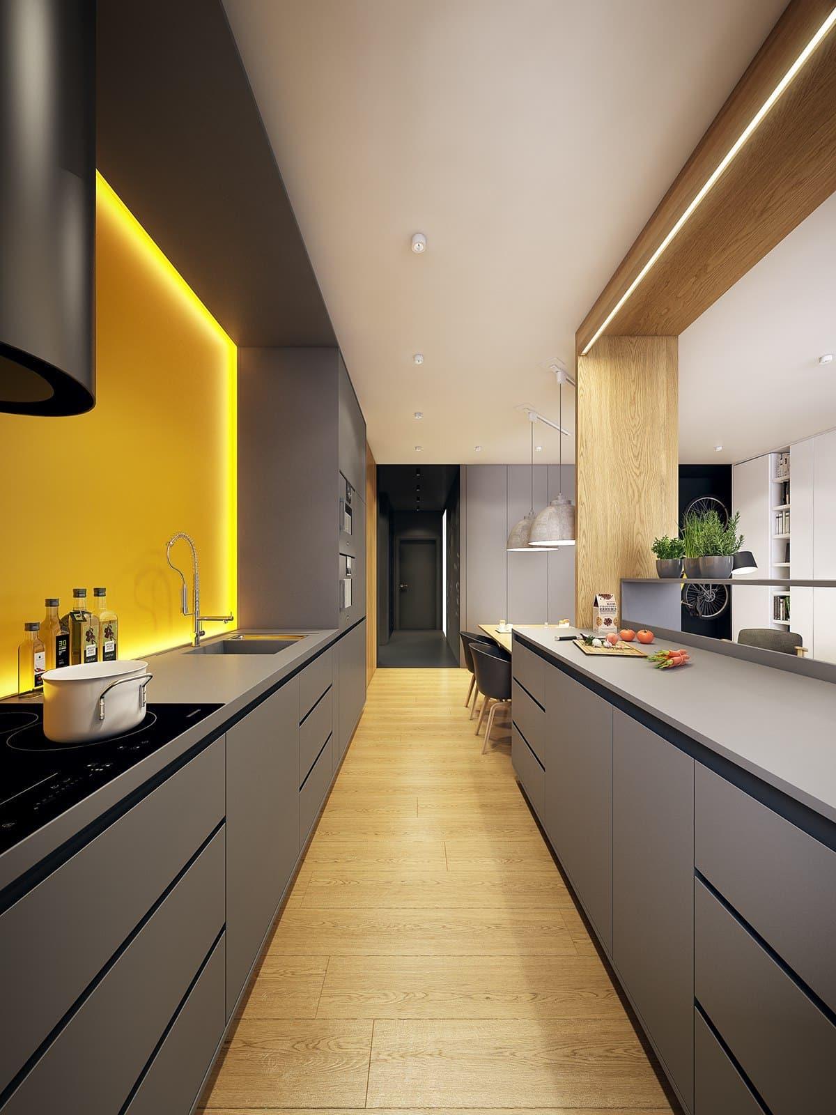 кухня в частном доме 54