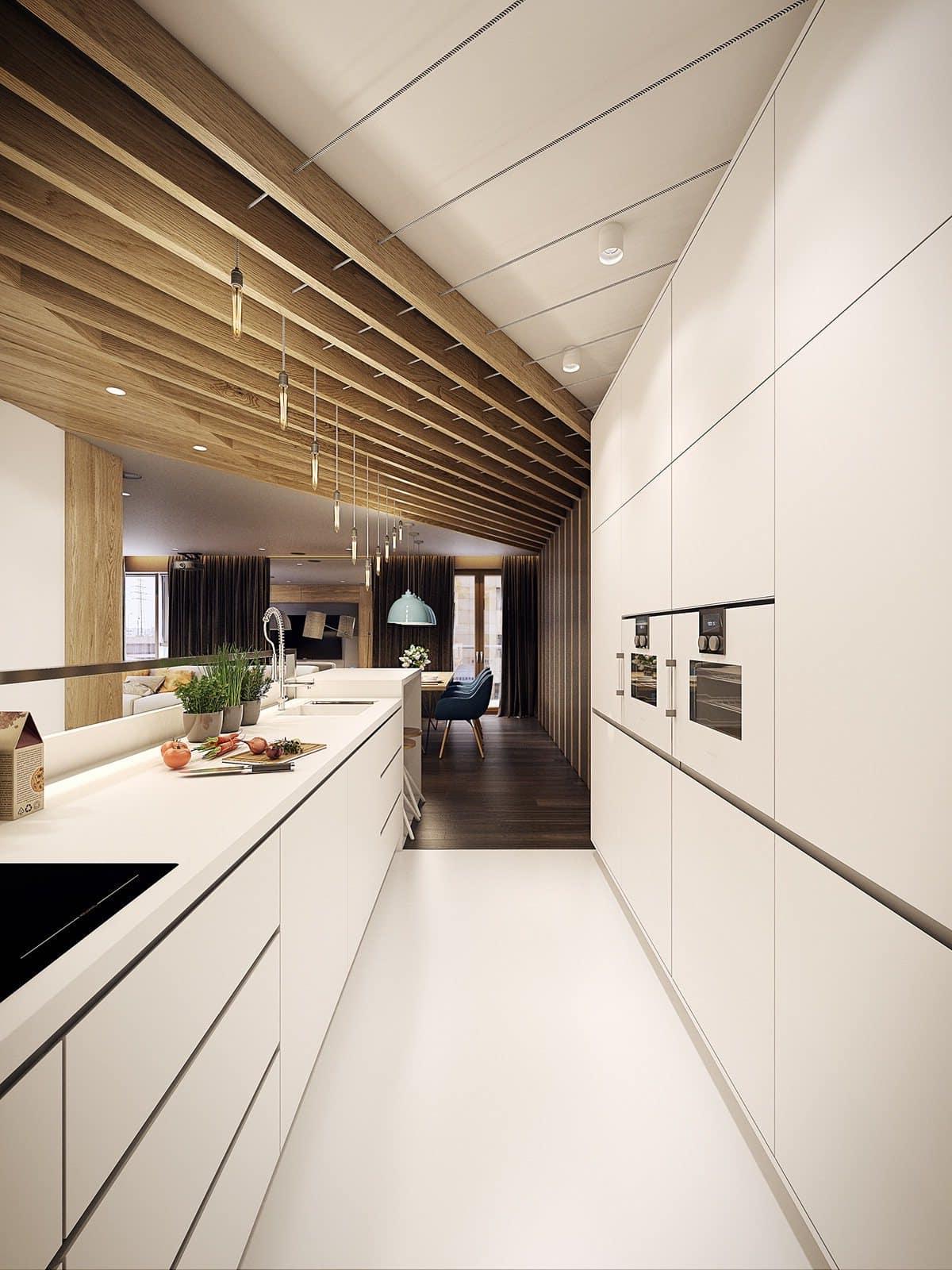кухня в частном доме 55