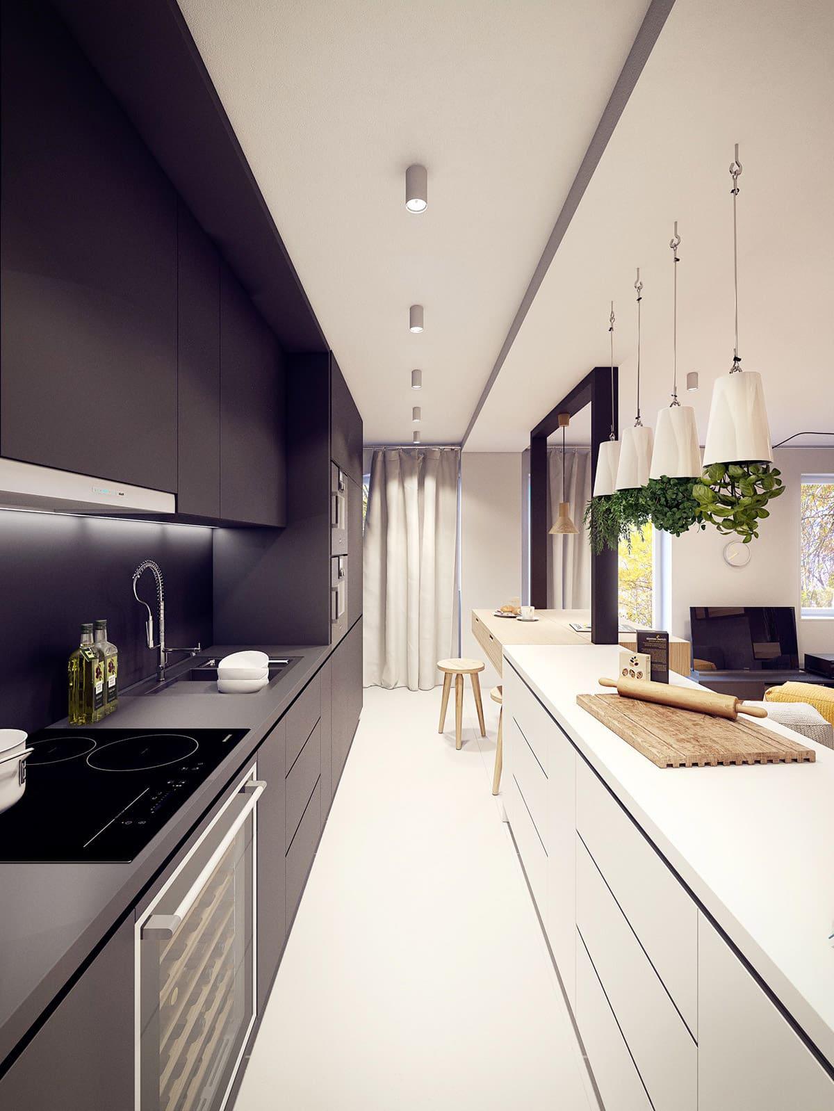 кухня в частном доме 56