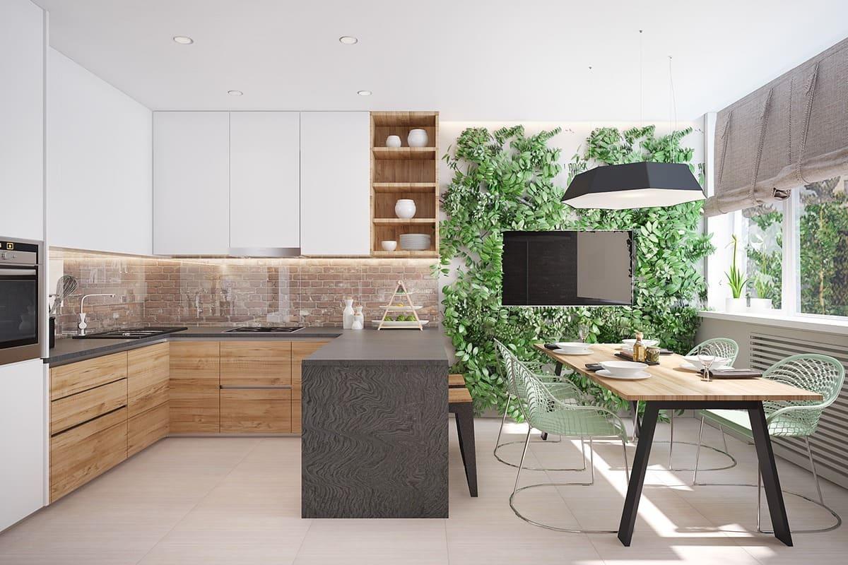 кухня в частном доме 63