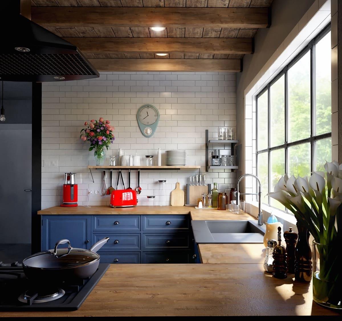 кухня в частном доме 64
