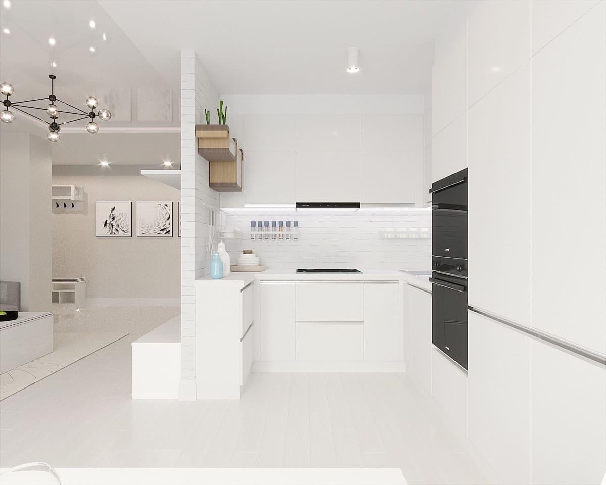 кухня в частном доме 65