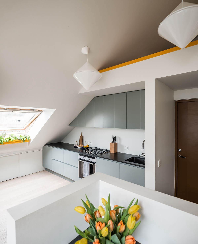 кухня в частном доме 67