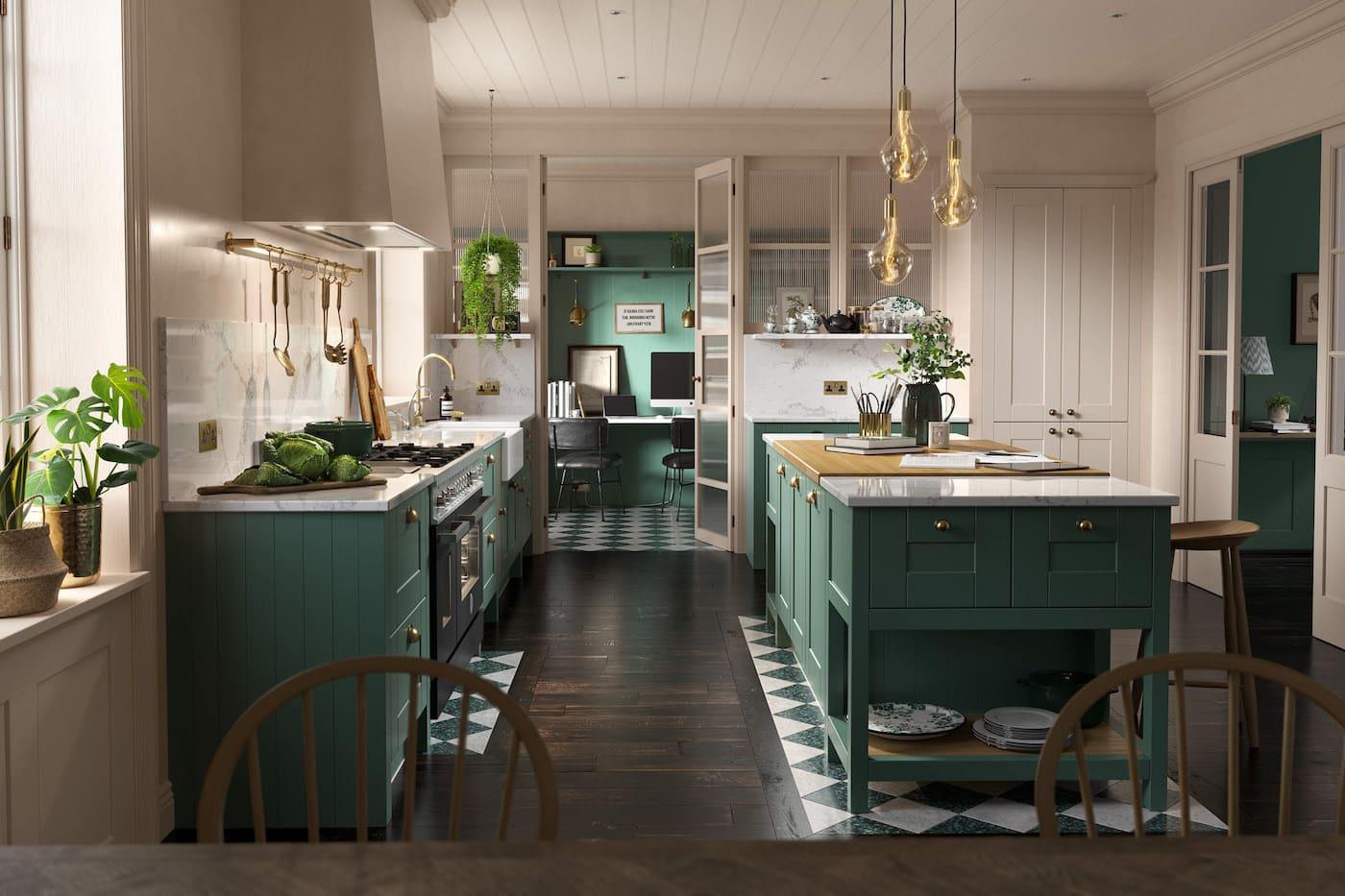 кухня в частном доме 70