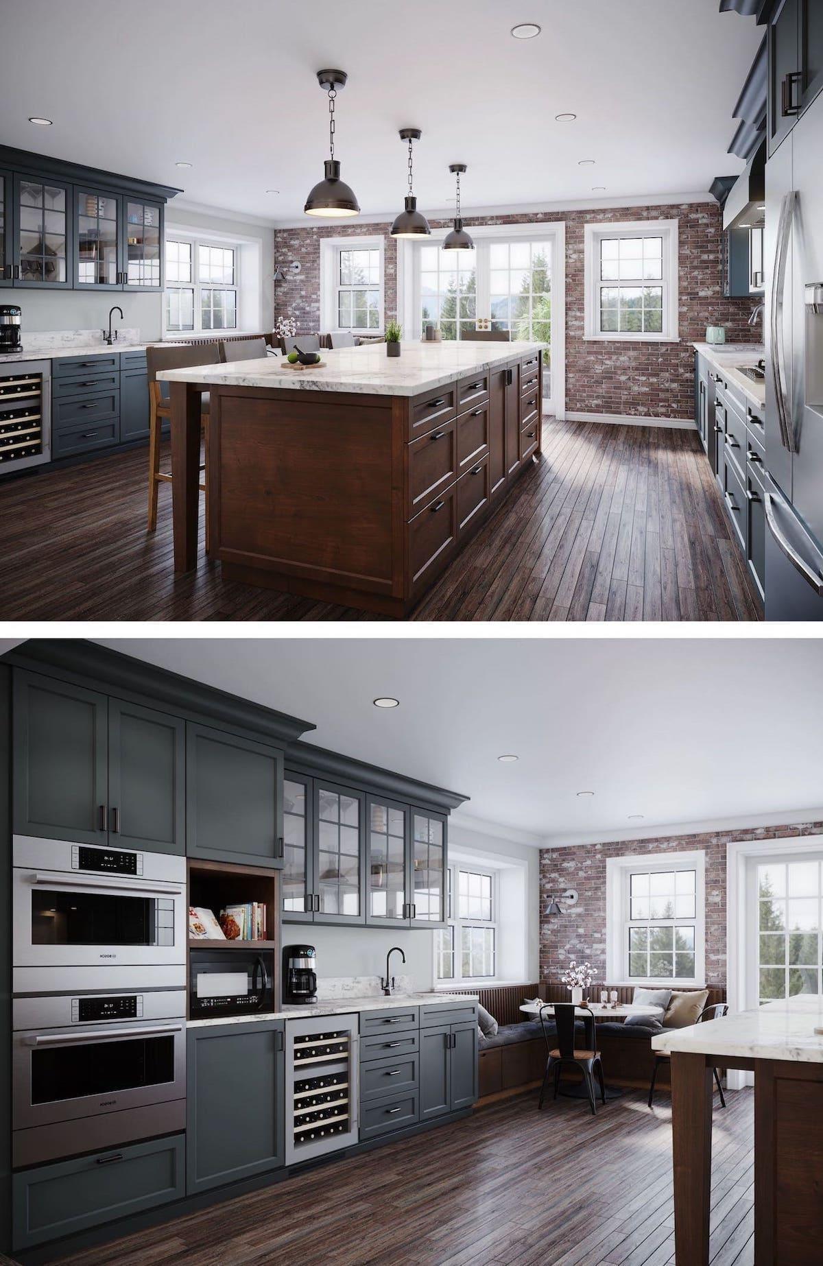 кухня в частном доме 72
