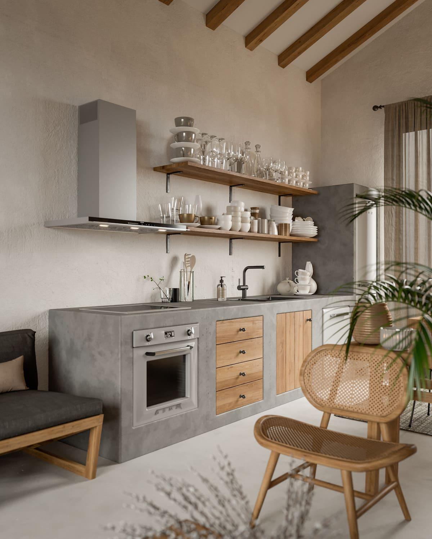 кухня в частном доме 6