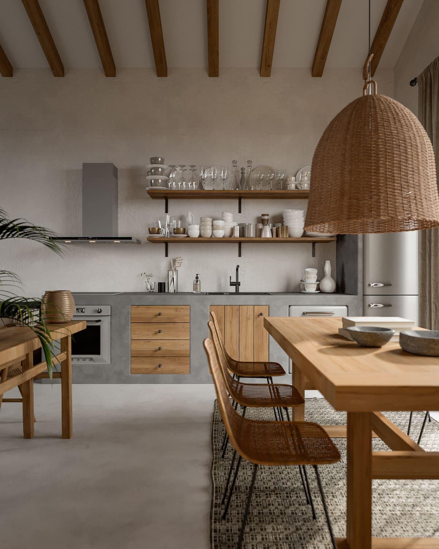 кухня в частном доме 7