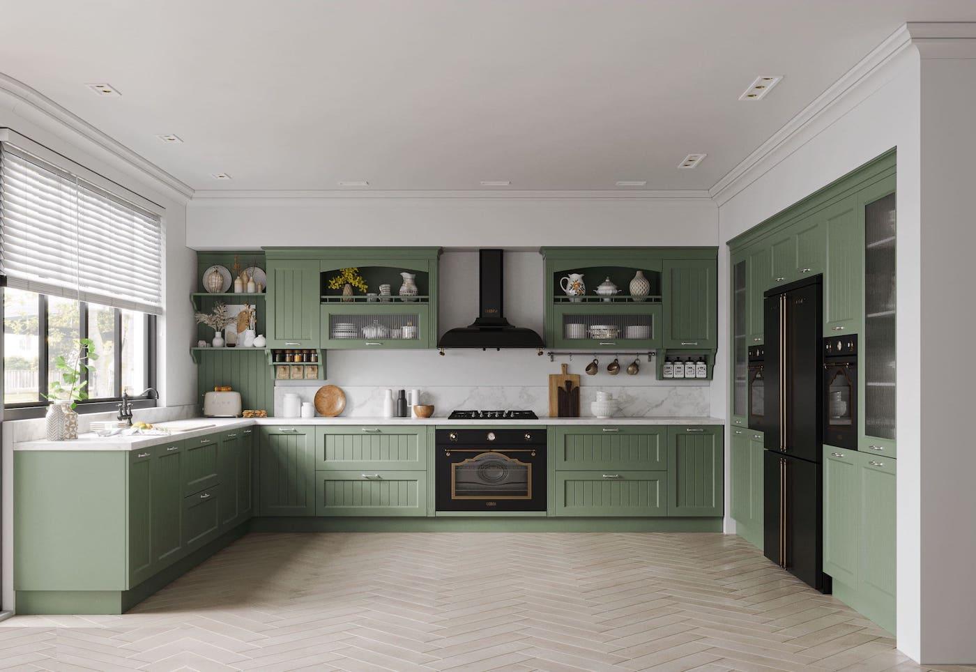 кухня в частном доме 74
