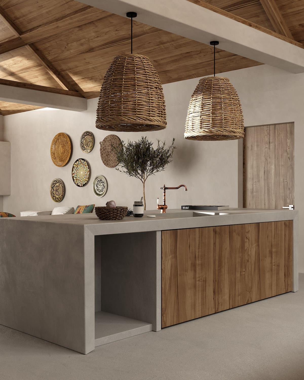 кухня в частном доме 14