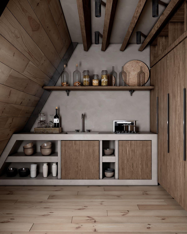 кухня в частном доме 16