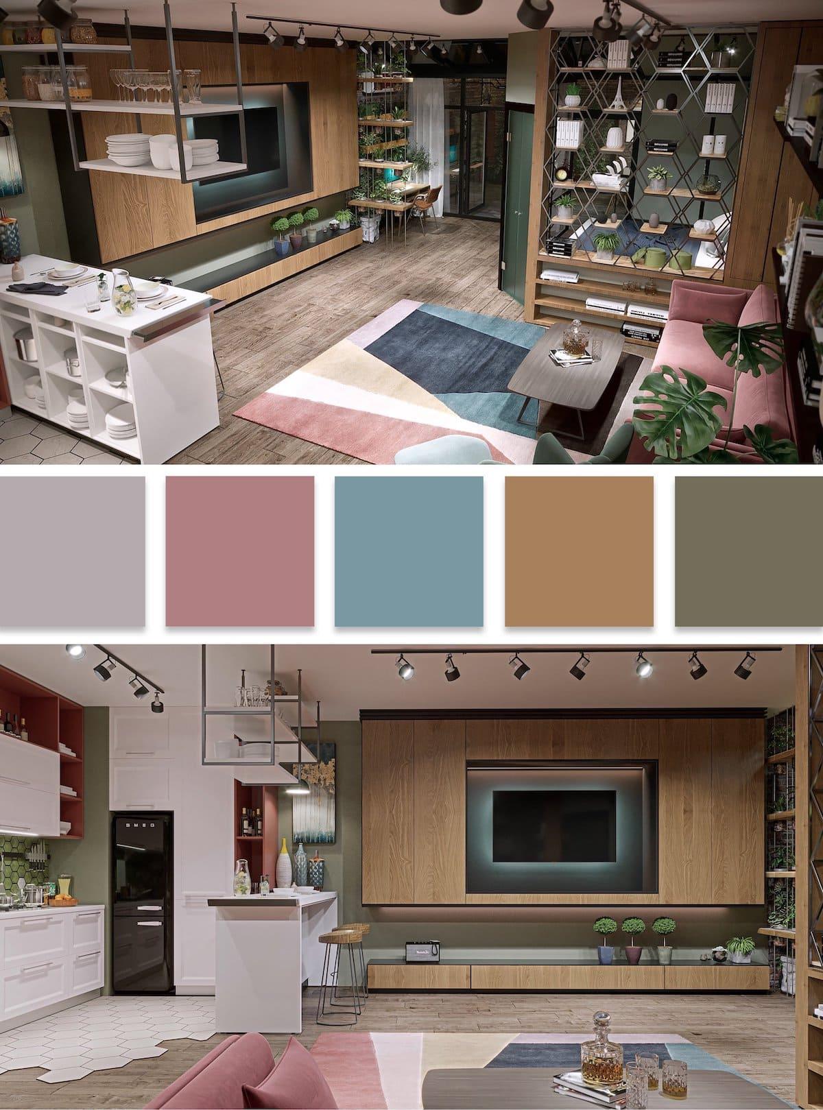 модные цвета в интерьере 36
