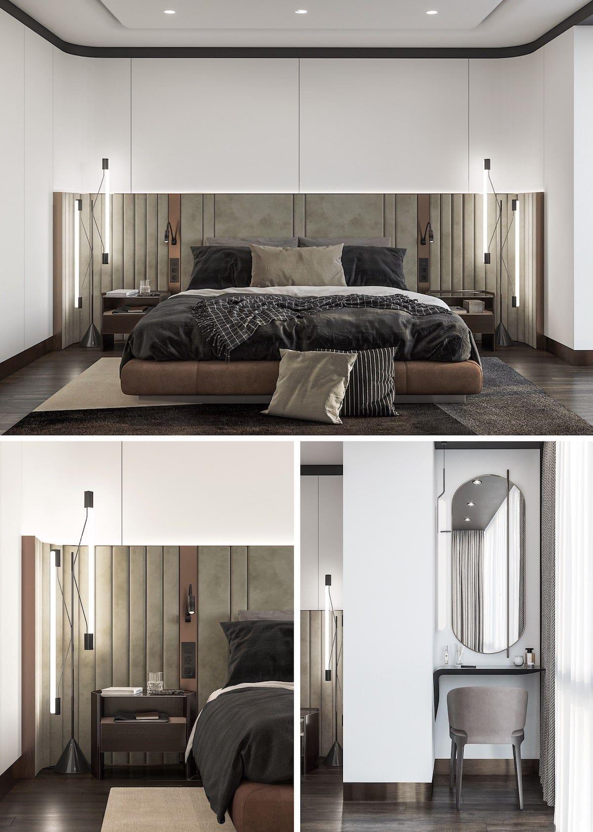 освещение в спальне фото 12