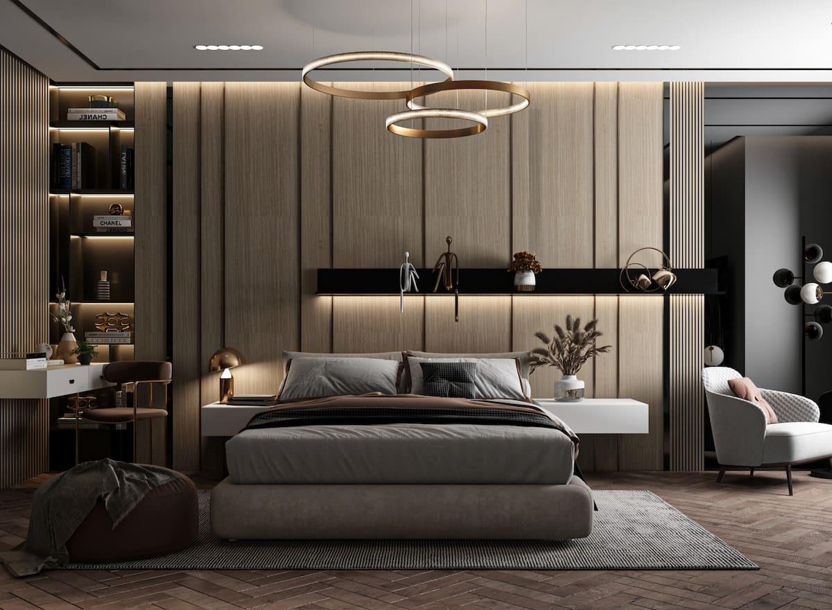 освещение в спальне фото 15