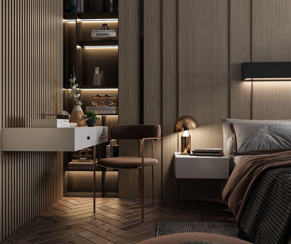 освещение в спальне фото 16