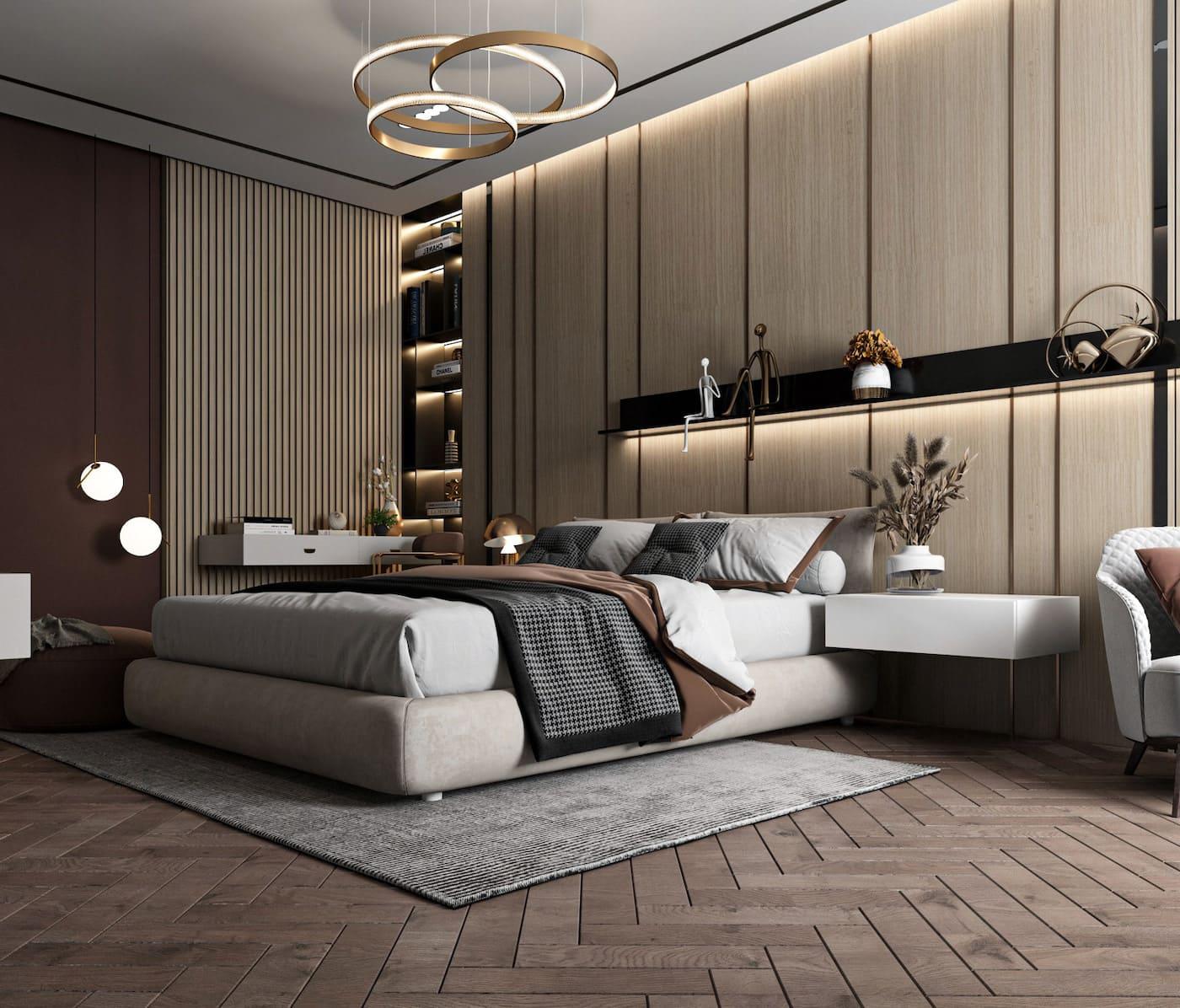 освещение в спальне фото 18