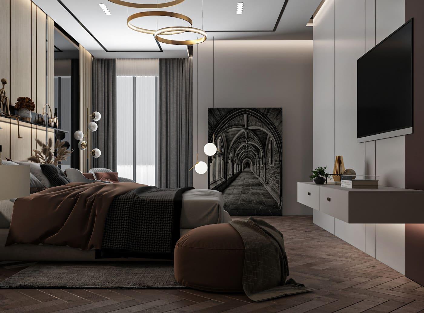 освещение в спальне фото 19