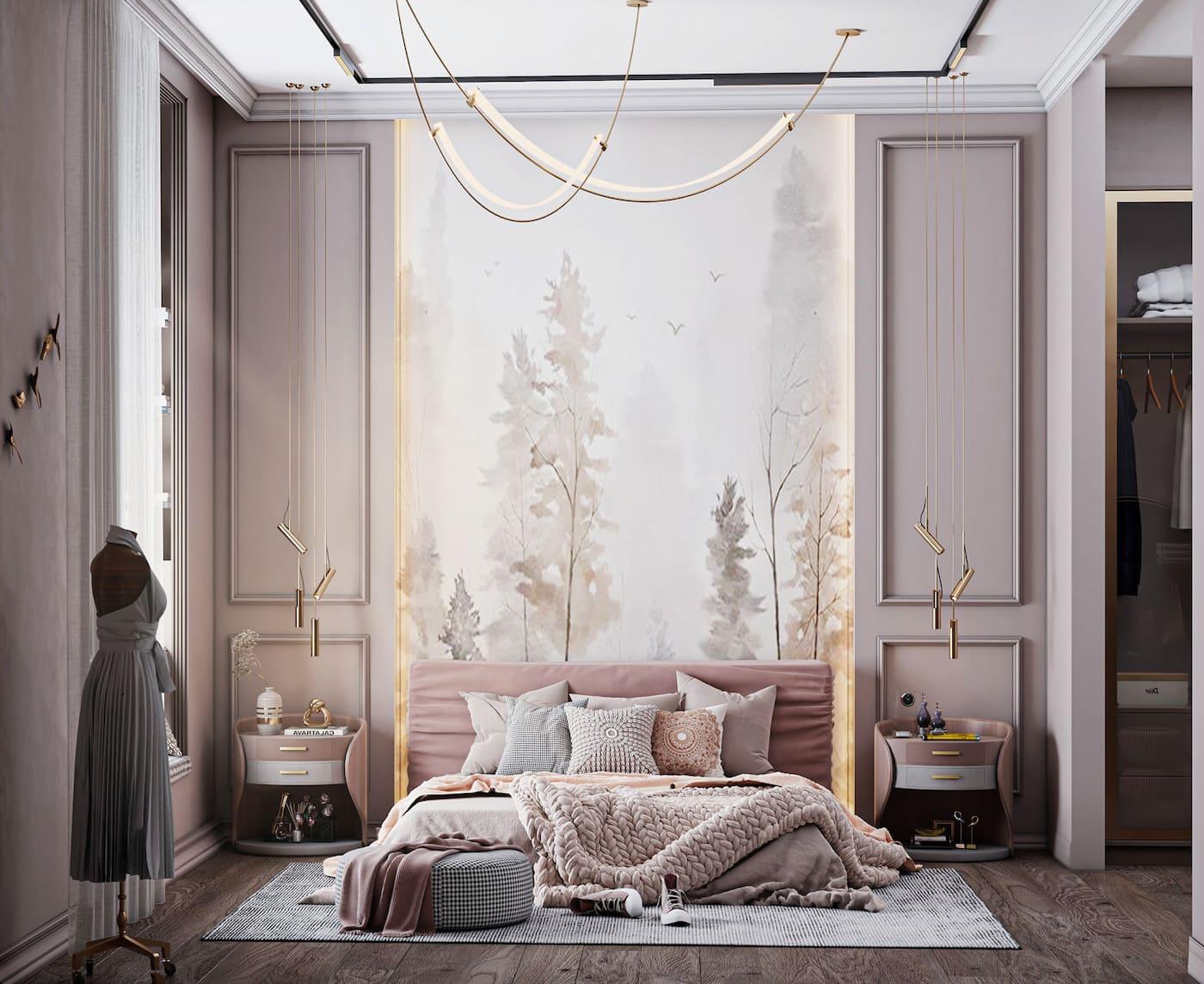 освещение в спальне фото 20