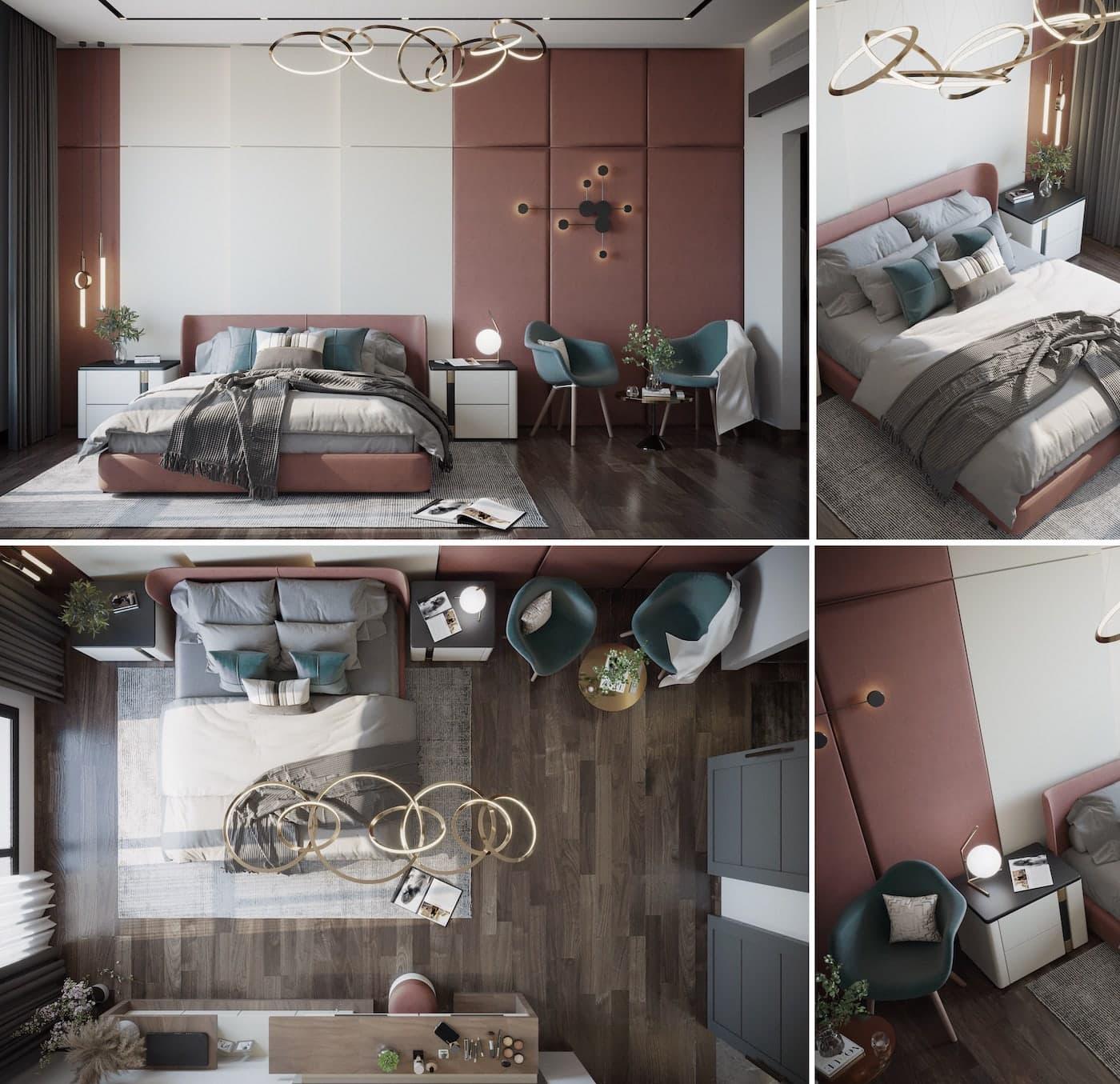 освещение в спальне фото 2