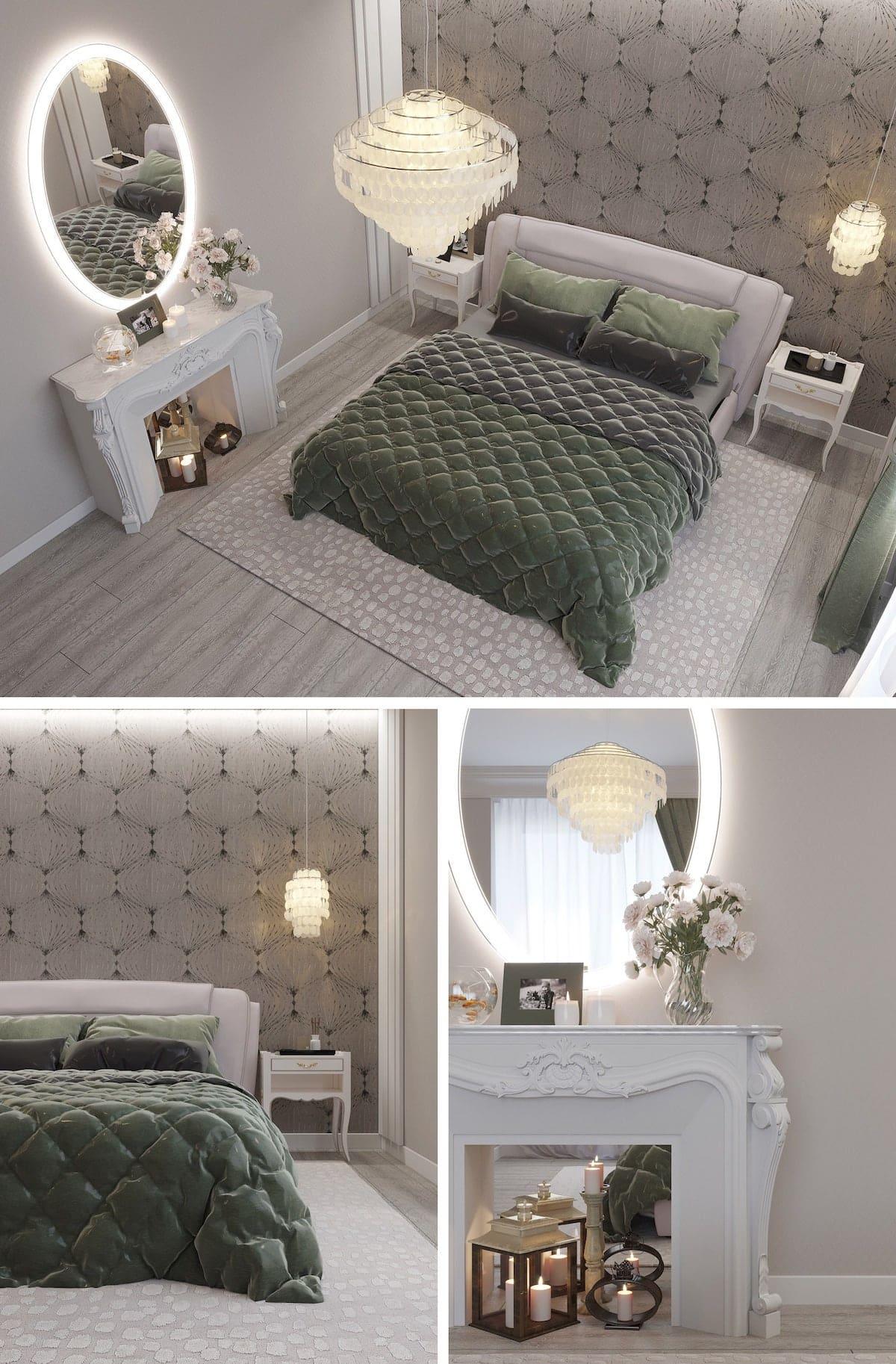 освещение в спальне фото 26