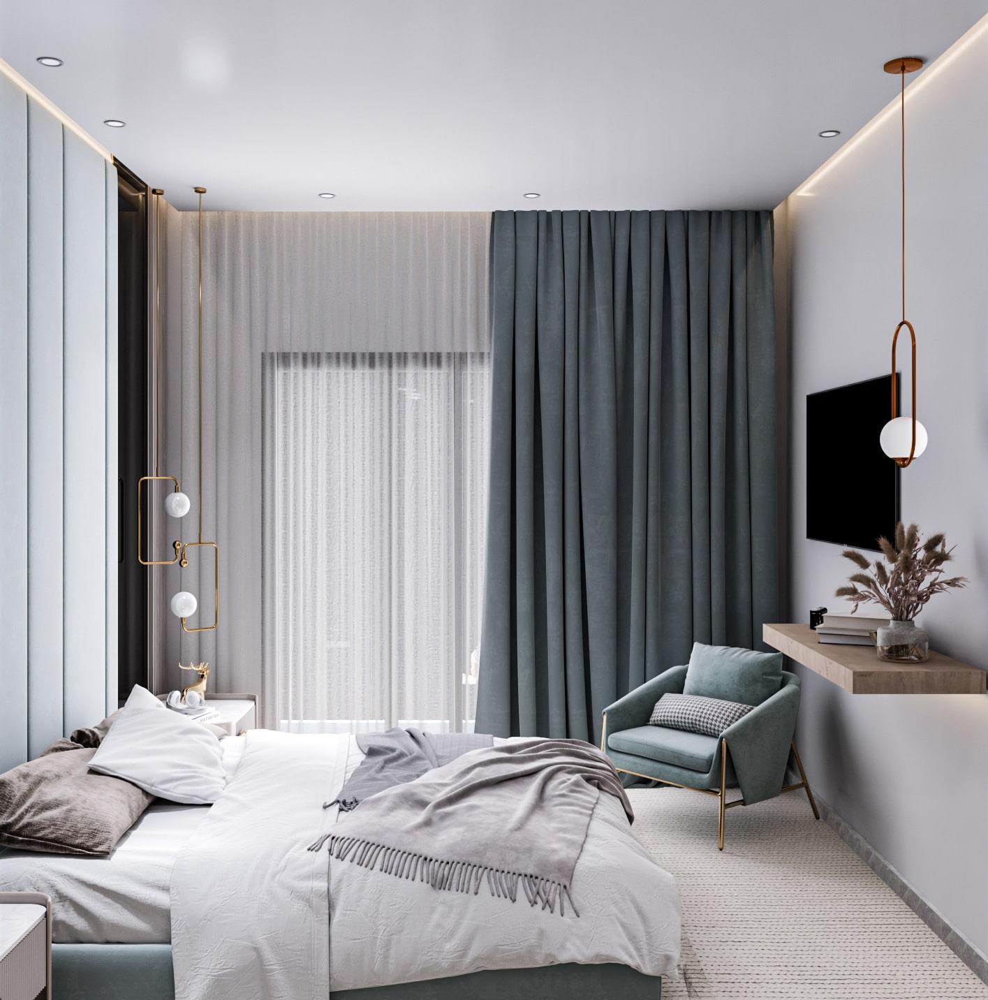 освещение в спальне фото 8