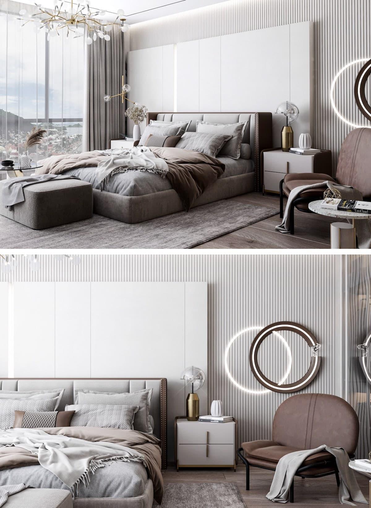 освещение в спальне фото 10