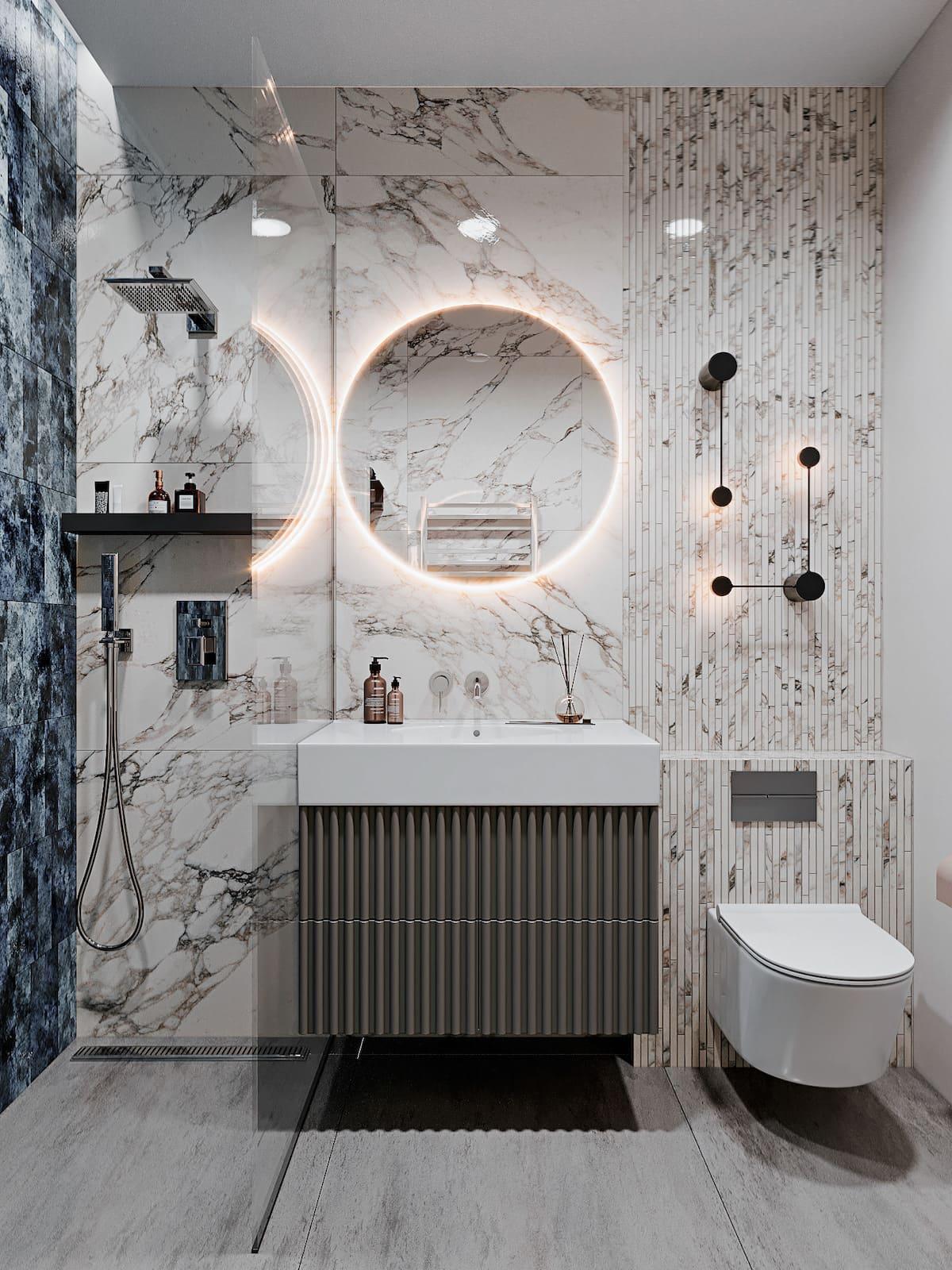 дизайн интерьера ванной комнаты фото 29