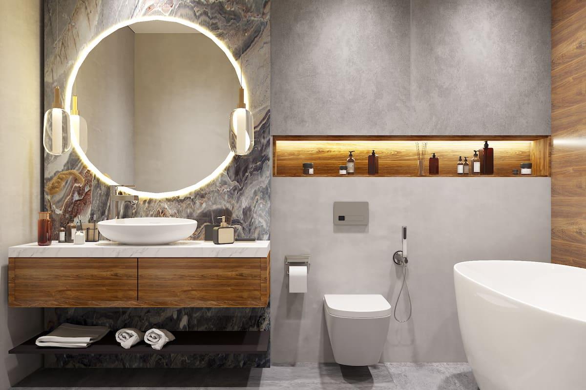 дизайн интерьера ванной комнаты фото 81