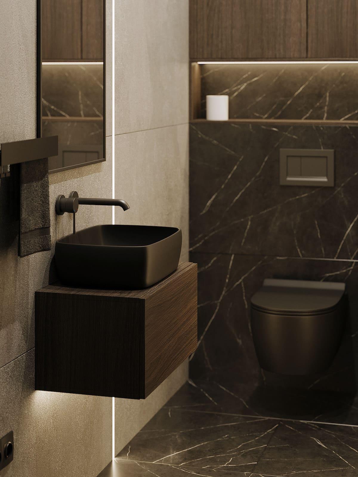 дизайн интерьера ванной комнаты фото 87