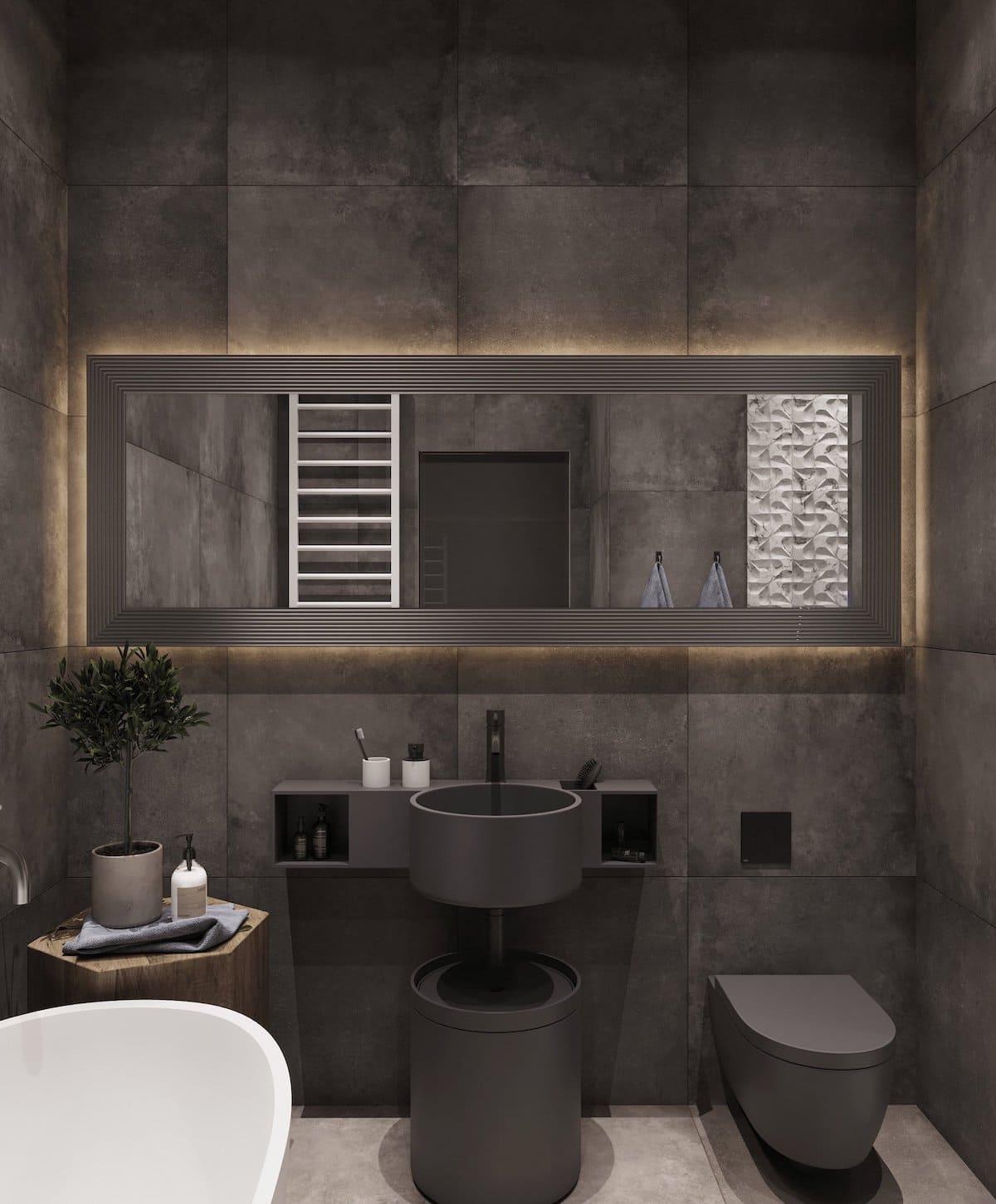 дизайн интерьера ванной комнаты фото 79