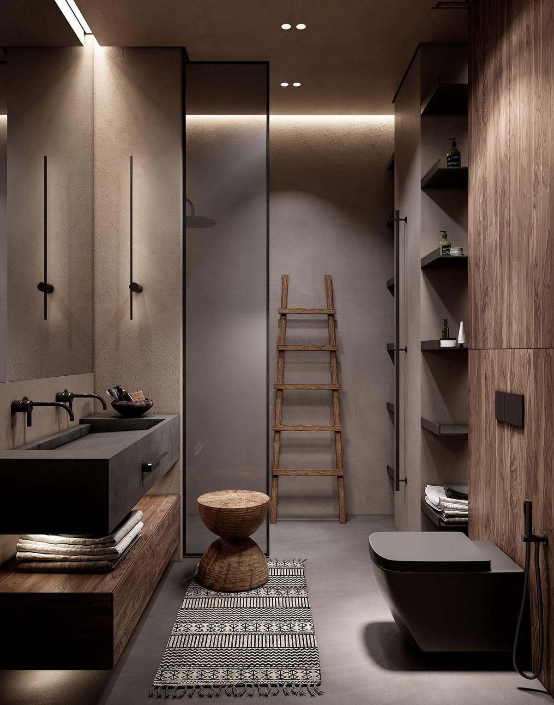 дизайн интерьера ванной комнаты фото 45