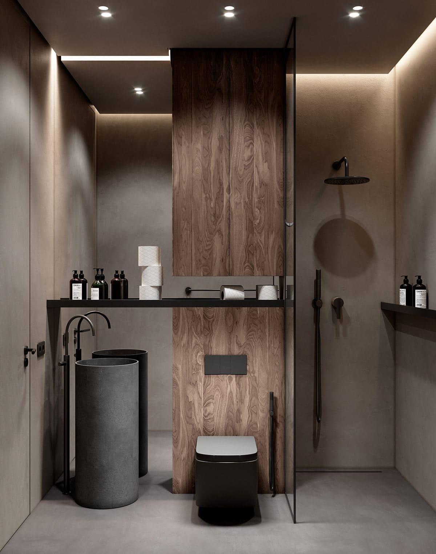 дизайн интерьера ванной комнаты фото 46