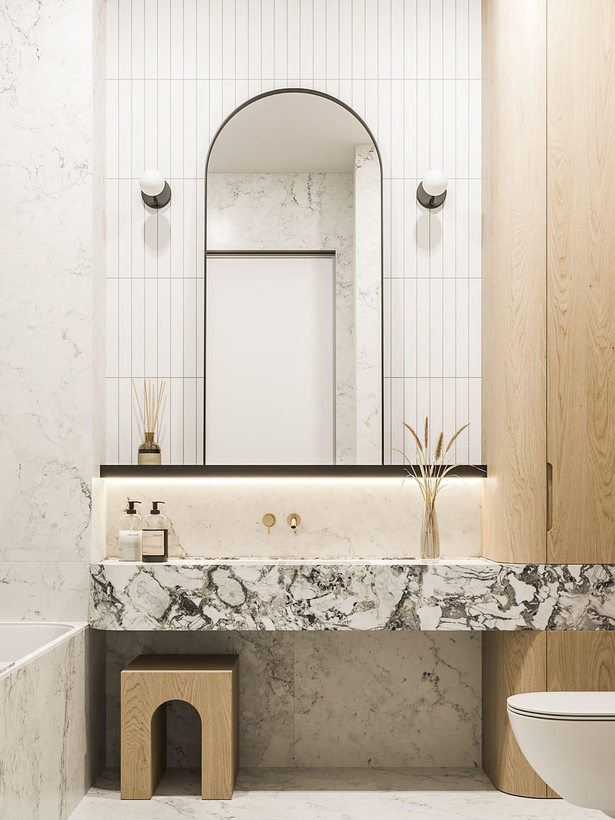 дизайн интерьера ванной комнаты фото 51