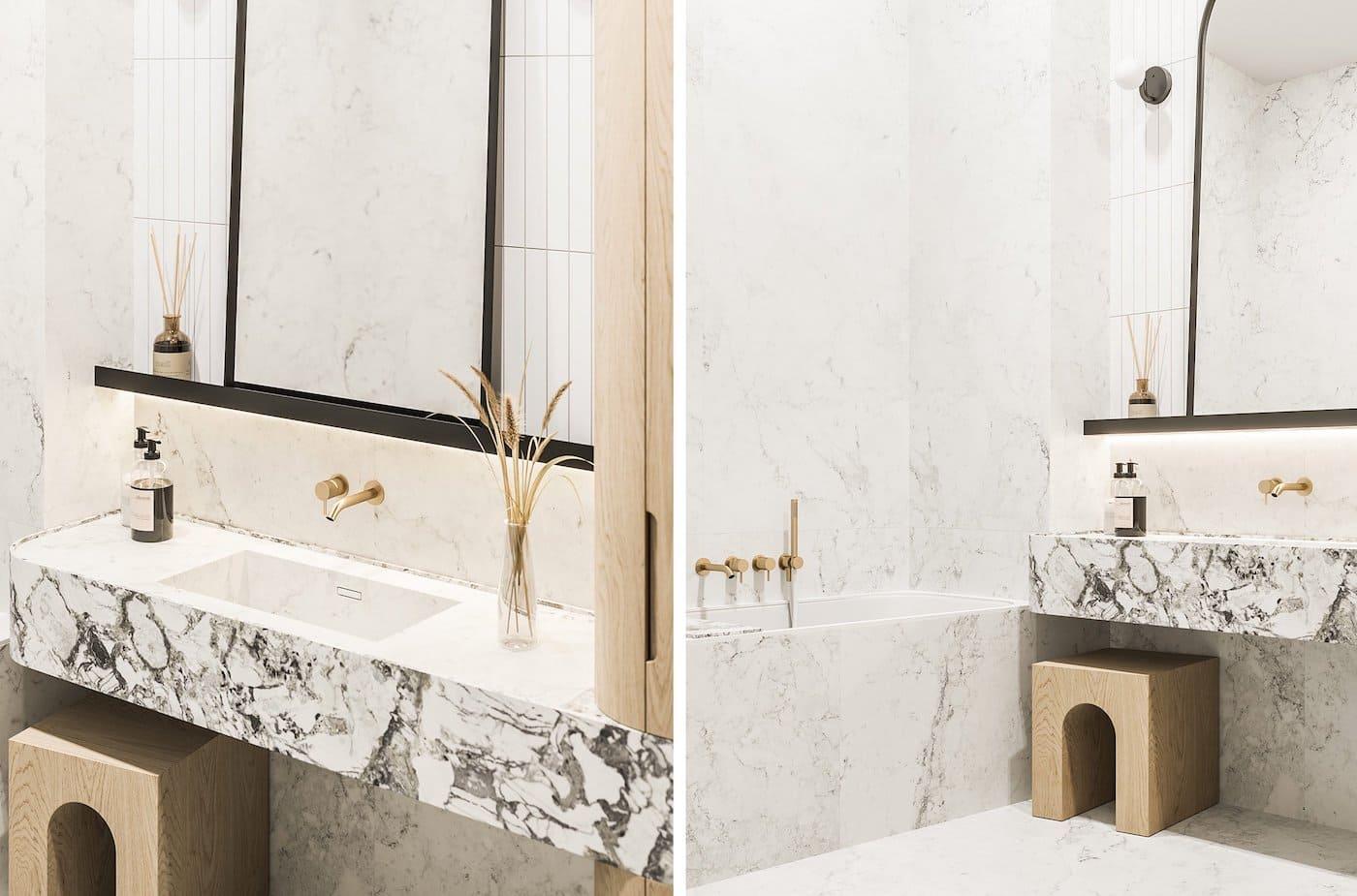 дизайн интерьера ванной комнаты фото 53