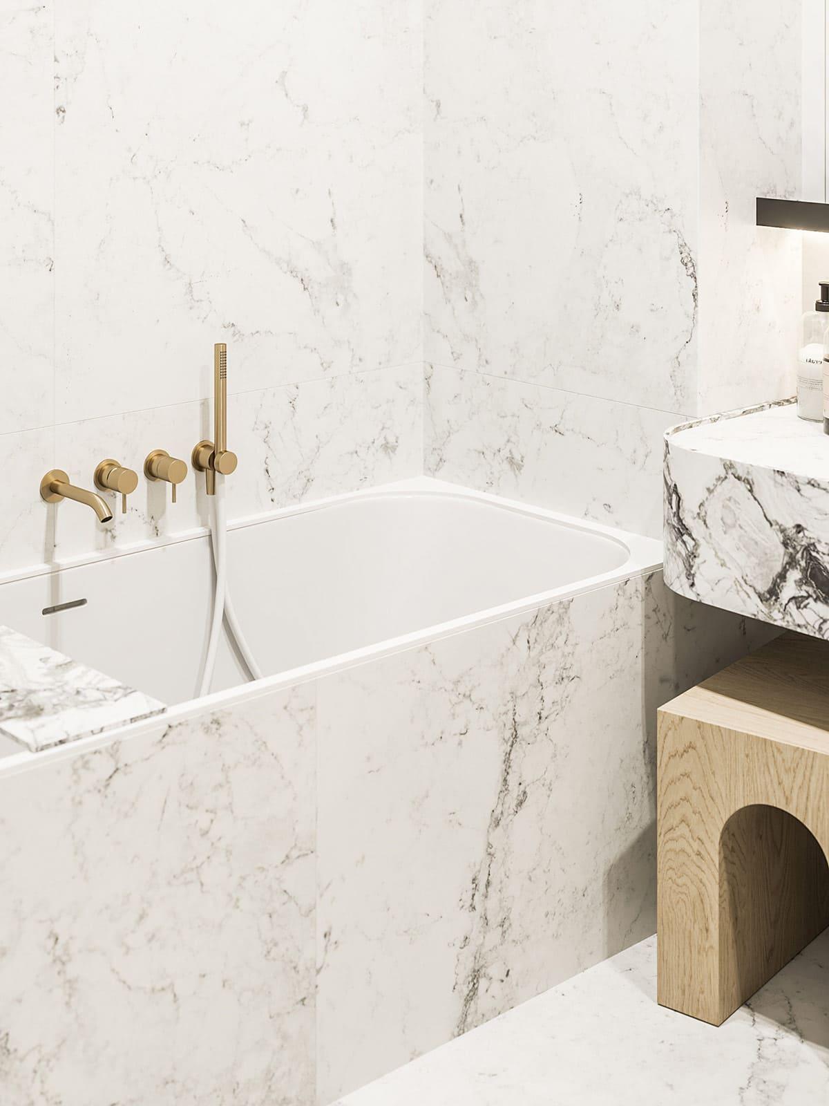 дизайн интерьера ванной комнаты фото 54