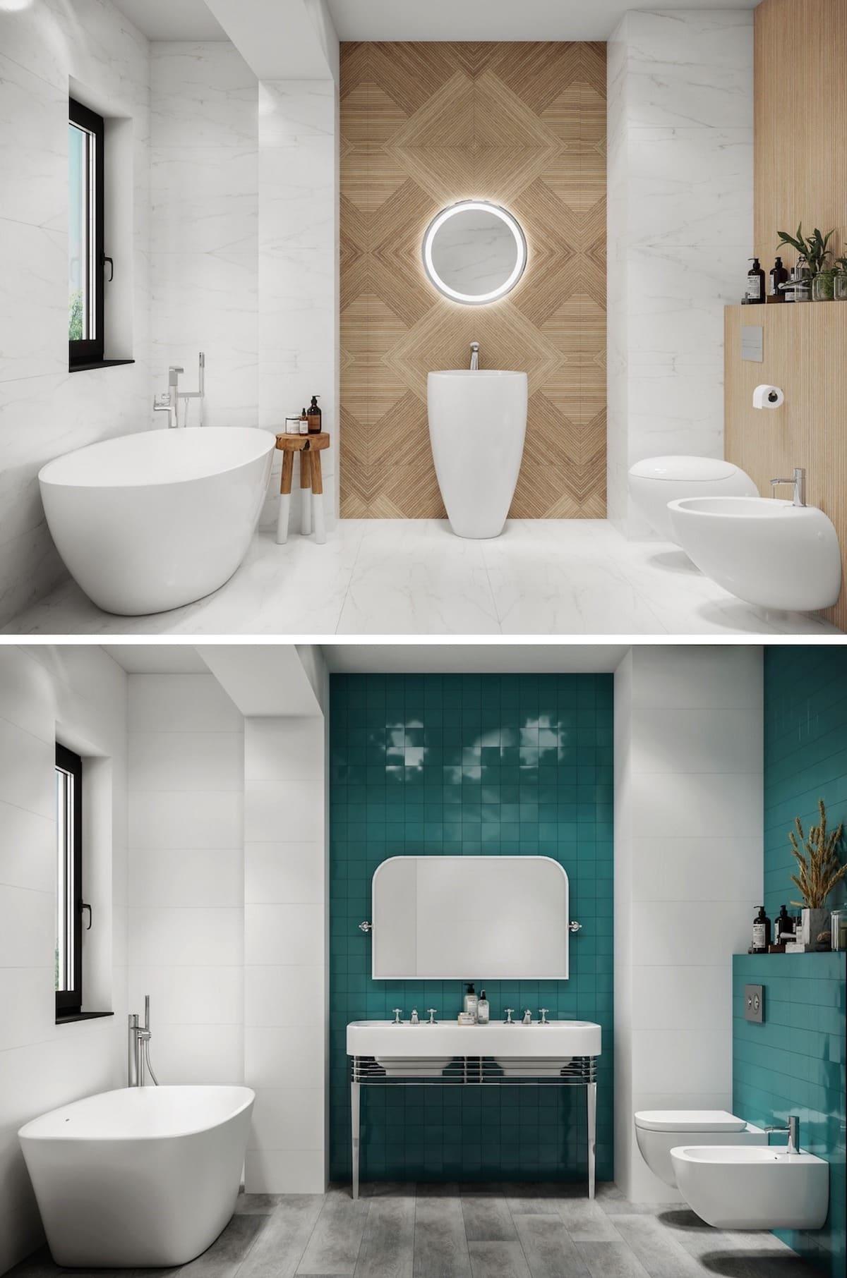 дизайн интерьера ванной комнаты фото 18