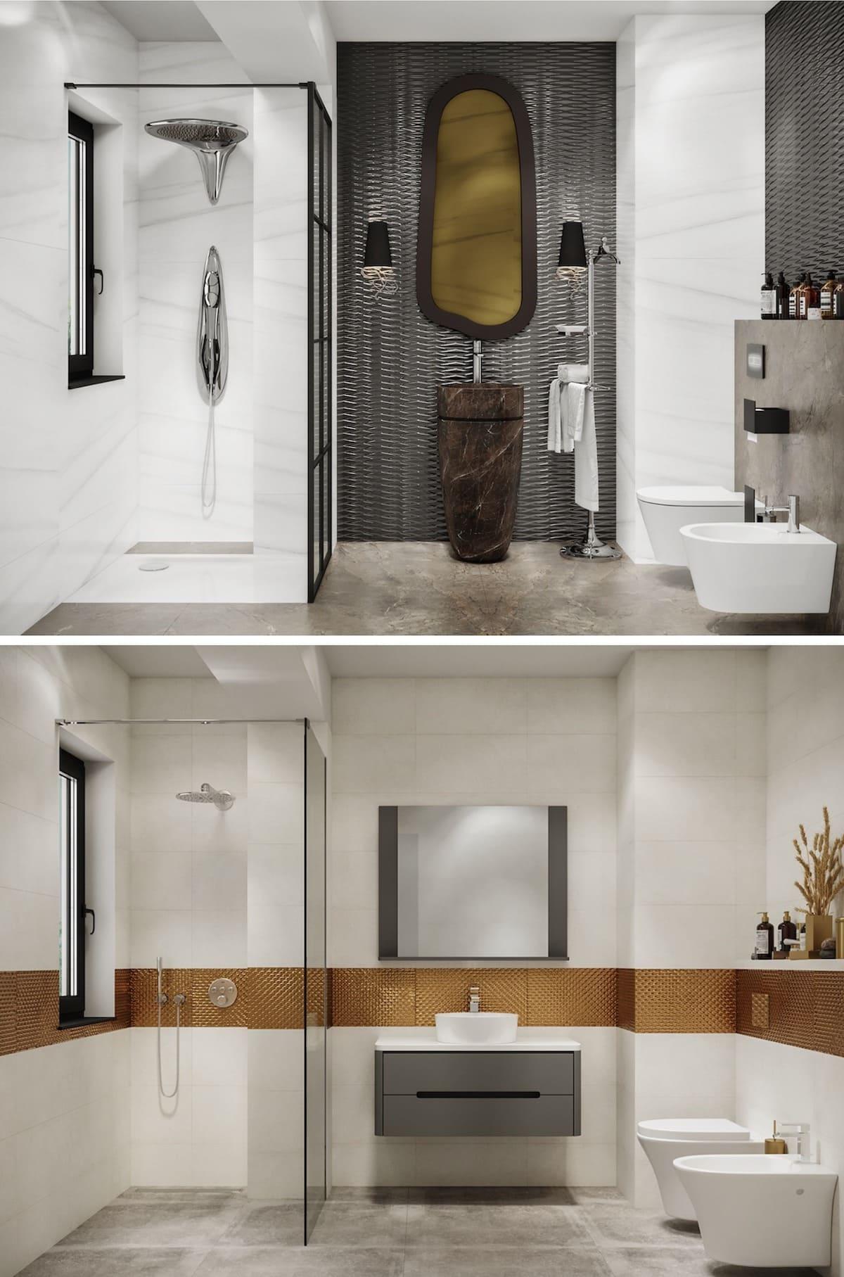 дизайн интерьера ванной комнаты фото 19