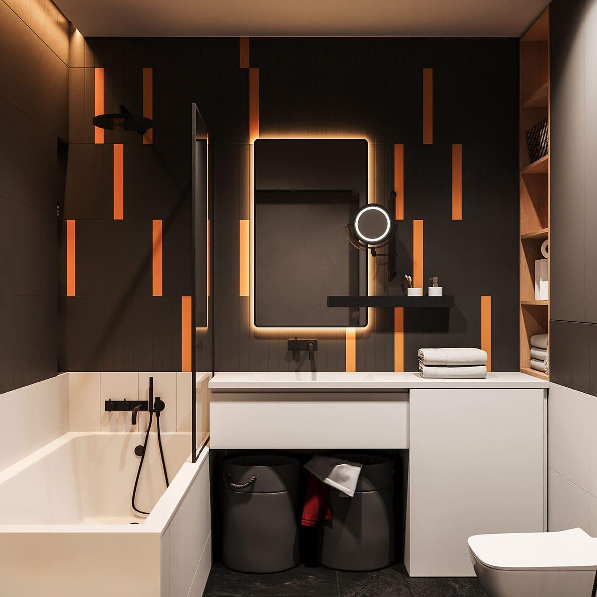 дизайн интерьера ванной комнаты фото 42