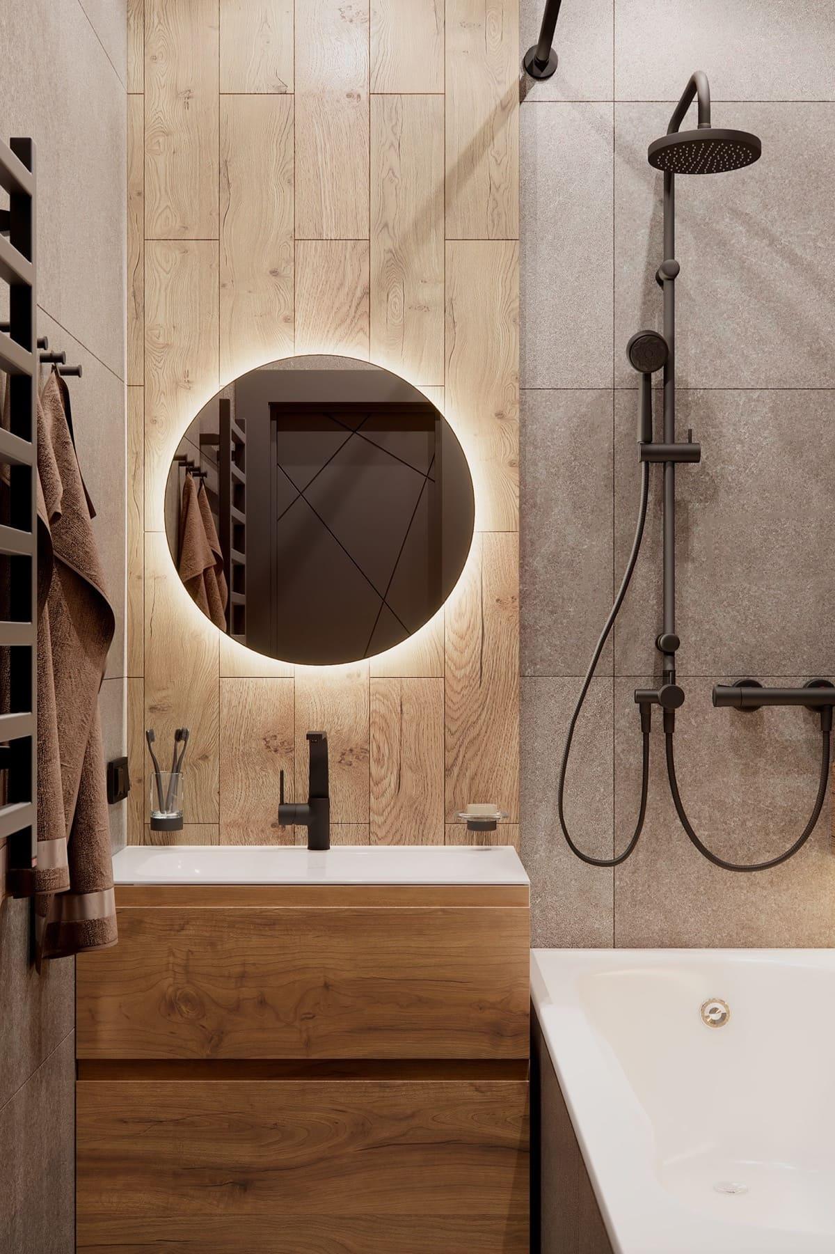 дизайн интерьера ванной комнаты фото 15
