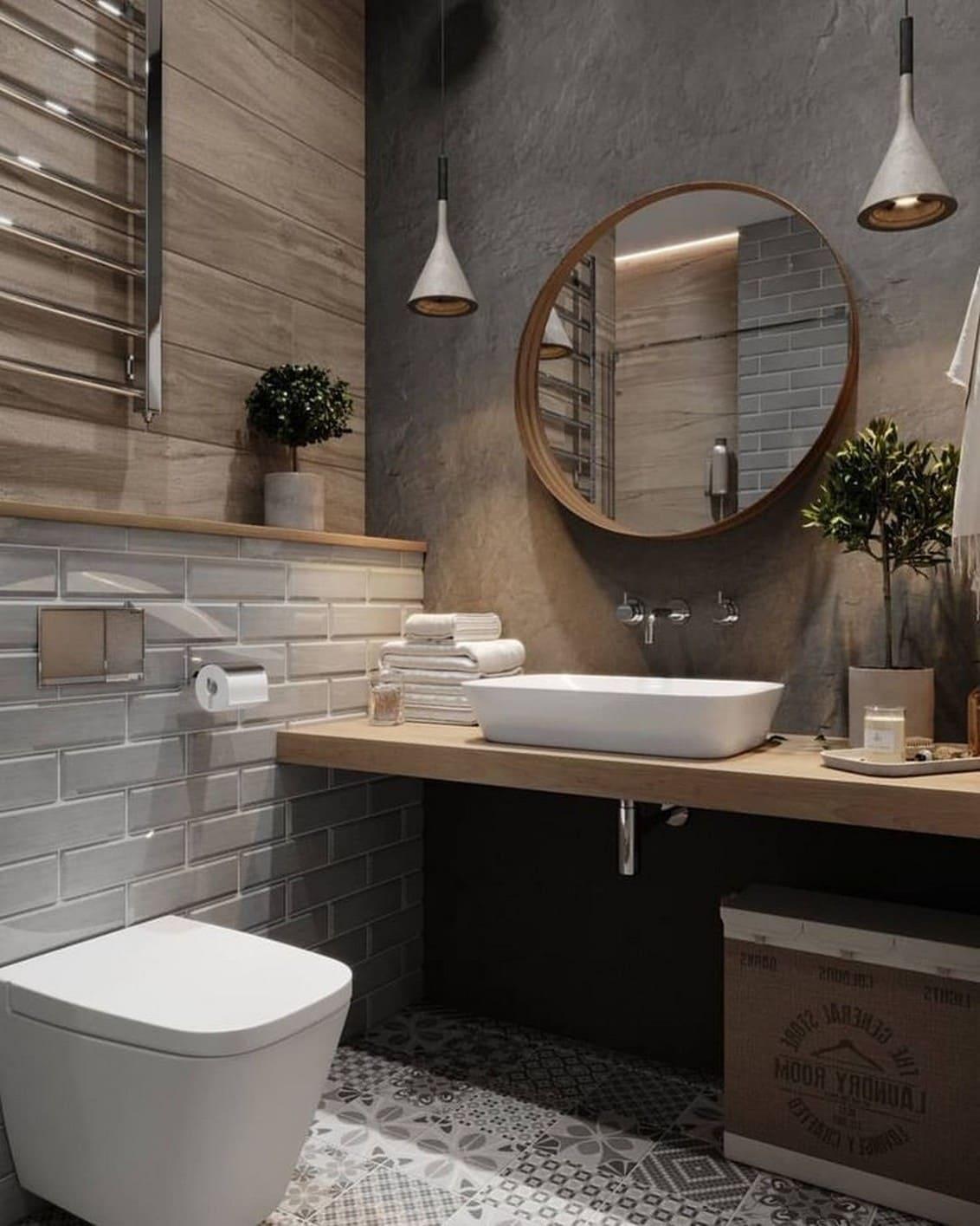 дизайн интерьера ванной комнаты фото 14