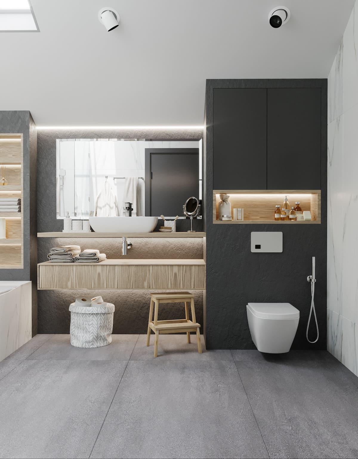 дизайн интерьера ванной комнаты фото 40
