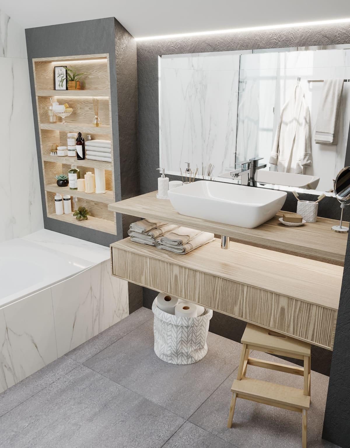 дизайн интерьера ванной комнаты фото 41