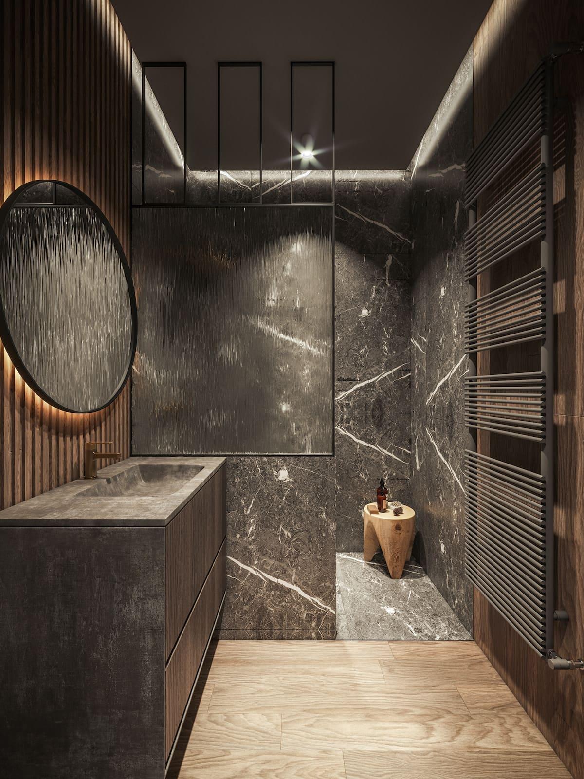 дизайн интерьера ванной комнаты фото 68