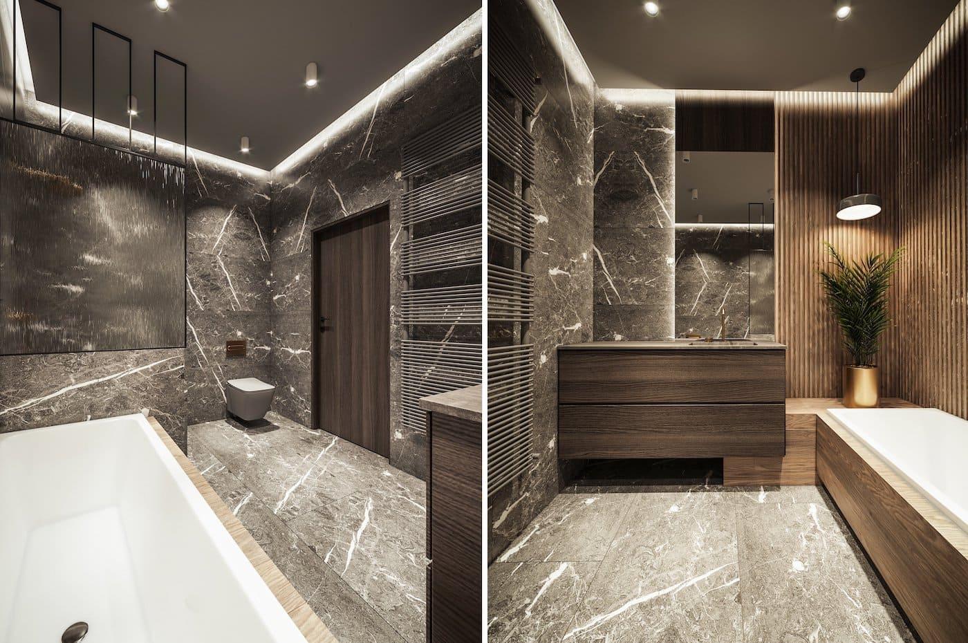 дизайн интерьера ванной комнаты фото 70