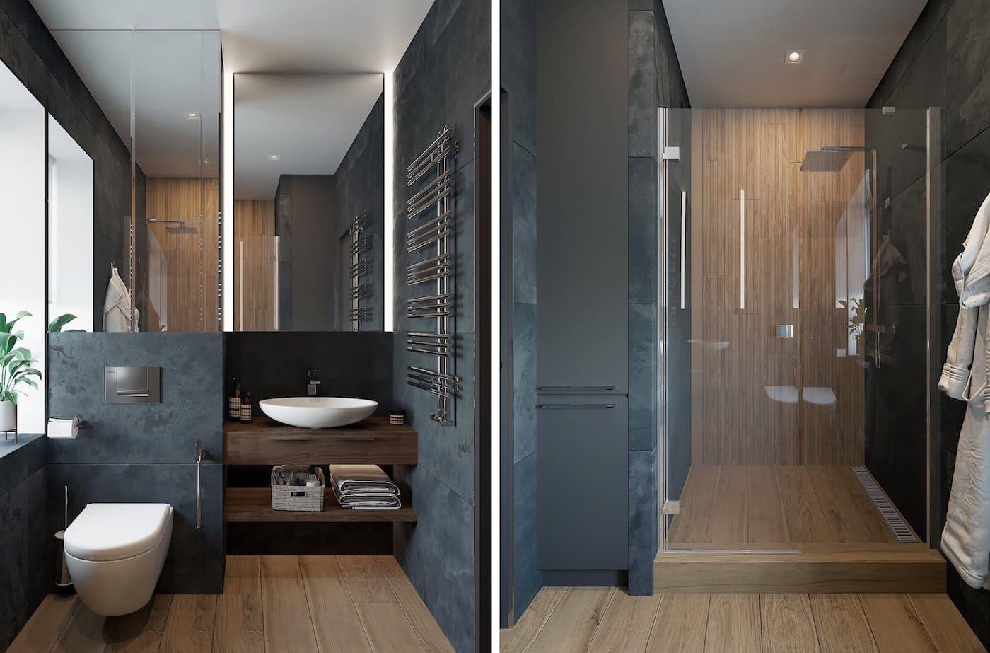 дизайн интерьера ванной комнаты фото 74