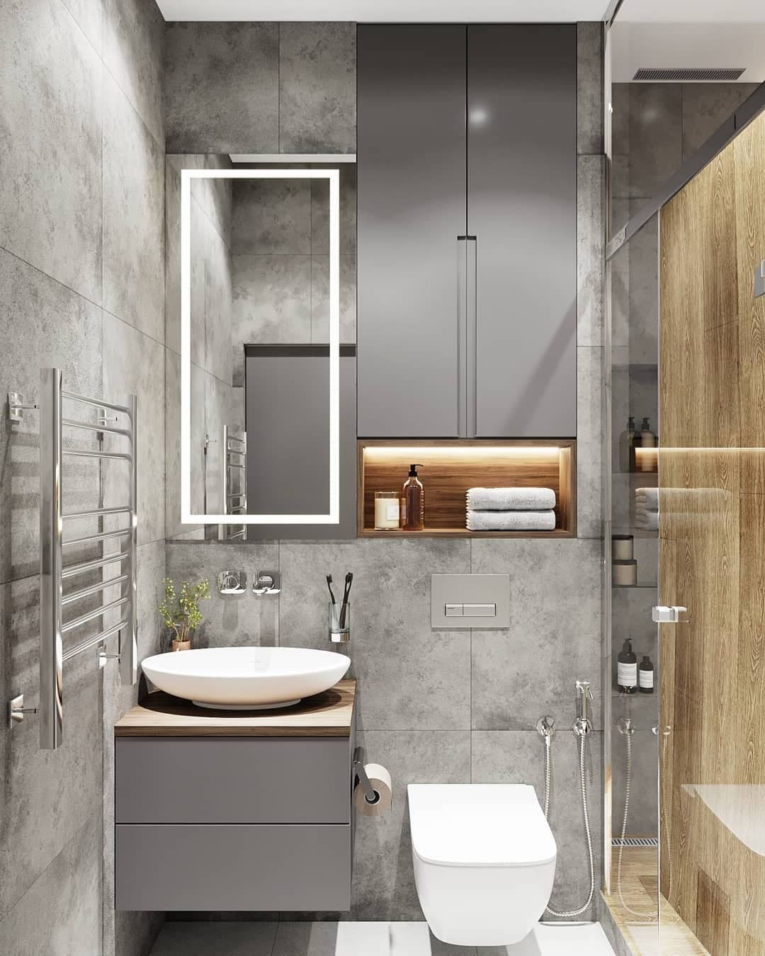 дизайн интерьера ванной комнаты фото 55