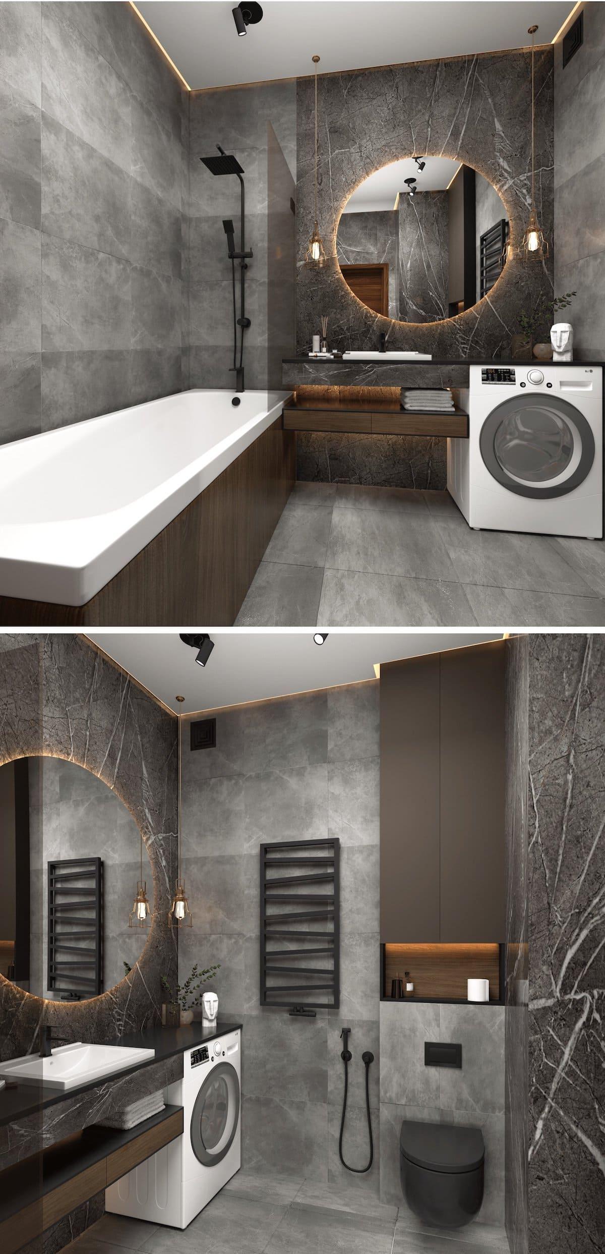 дизайн интерьера ванной комнаты фото 78