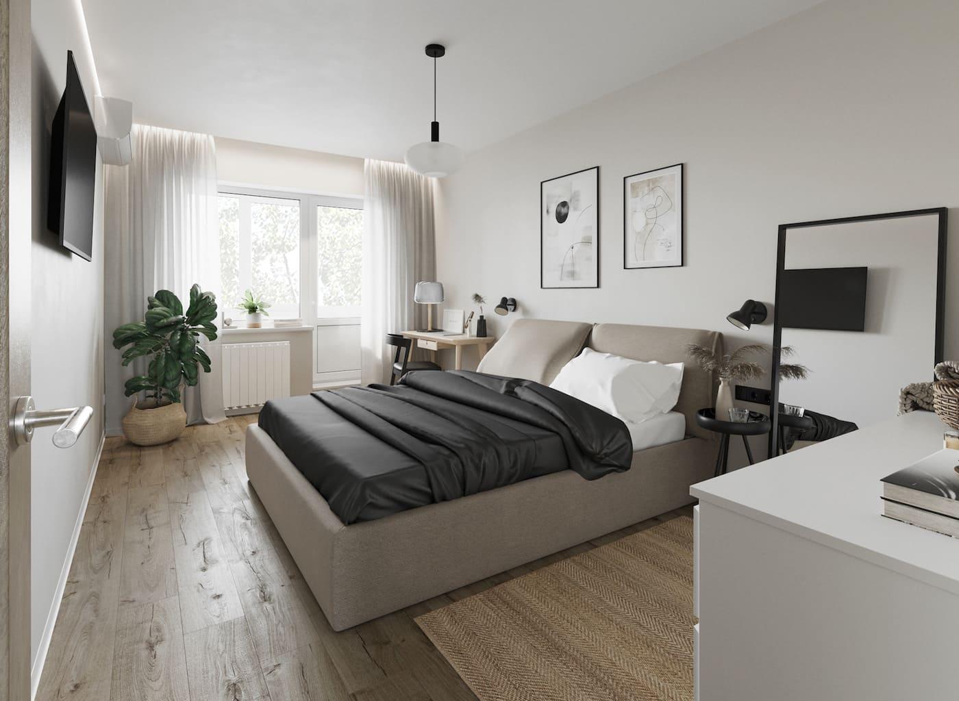 интерьер спальни фото 65