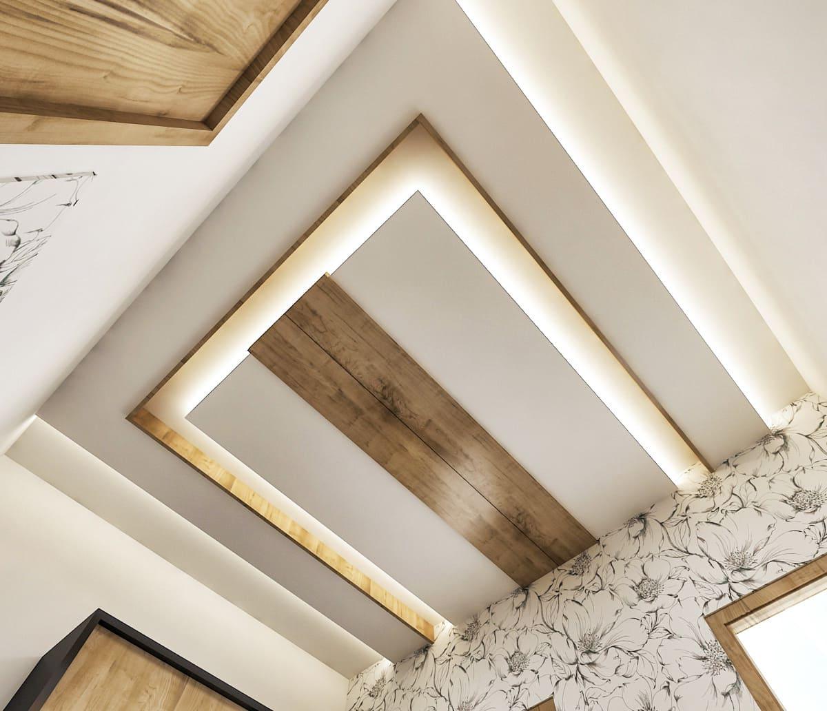 красивый дизайн потолка фото 16