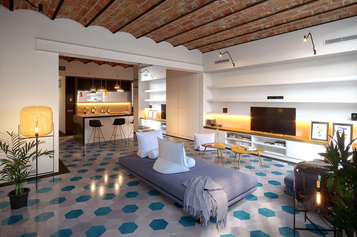 красивый дизайн потолка фото 22