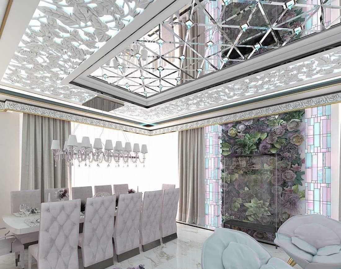 красивый дизайн потолка фото 8